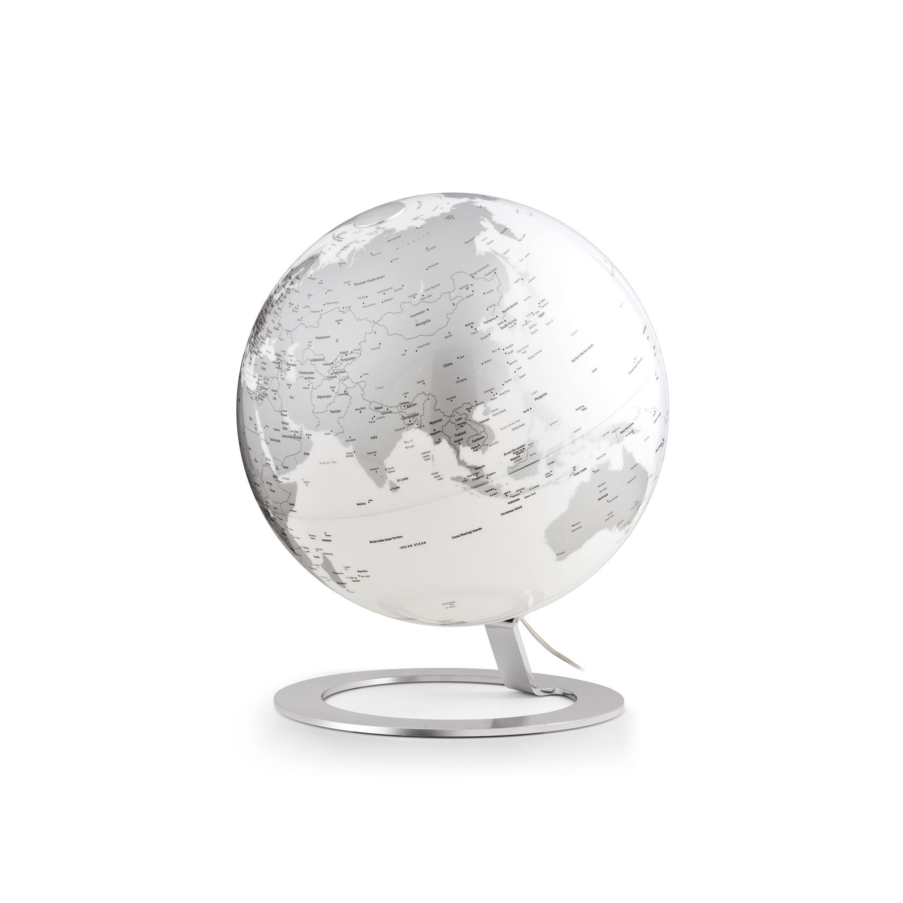design globus mit gestell in edelstahl. Black Bedroom Furniture Sets. Home Design Ideas