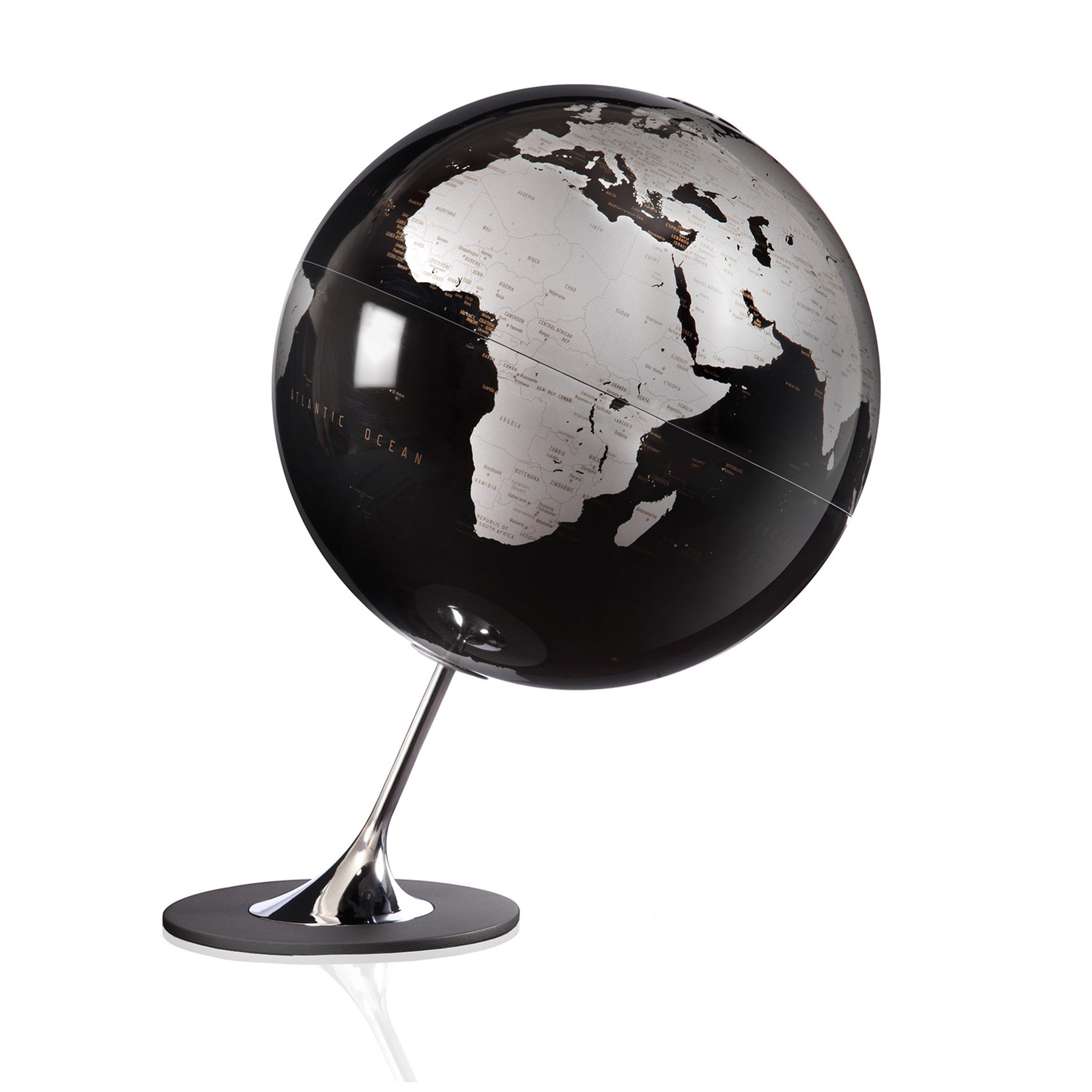 aparter design globus schwarz metallic. Black Bedroom Furniture Sets. Home Design Ideas